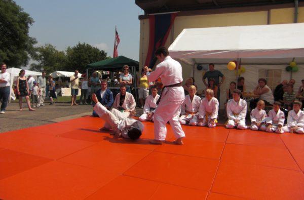 Judovorführung bei dem Feuerwehrjubiläum Wartenberg 2009